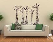 Giraffe Wall Decals - Giraffe Family Wall Stickers