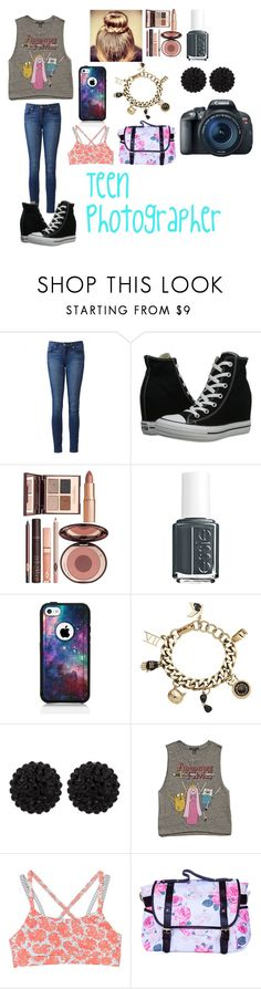 """""""Untitled #142"""" by i-found-wonderland ❤ liked on Polyvore featuring Paige Denim, Converse, Charlotte Tilbury, Essie, OtterBox, Karl Lagerfeld, sweet deluxe, Forever 21, O'Neill and Eos"""