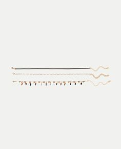 ZARA - WOMAN - PACK OF 3 FEATHER CHOKERS