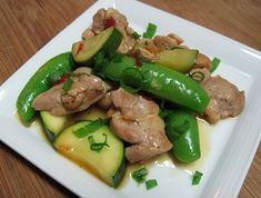 Spicy Chicken, Mushrooms and Snap Peas -