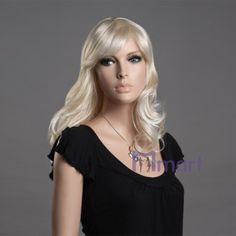 hot fashion style natural looking synthetic medium long blonde women wavy hair wigs for girls ladies [MM-WG-ZL07W-LG26T613A] - $22.63 : Miimart, where you buy cheap and cheerful