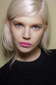 50 Coolest Cuts for 2015; Deep side part for a dramatic look. I also love her lipstick <3