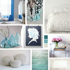 A kid's room decor mood board inspired by Disney's Frozen. Create a bedroom fit for Queen Elsa with some interior design inspiration. www.epochbydesign.com