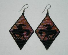 End of the Trail Beaded Earrings by DoubleACreations on Etsy, $25.00