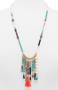 BaubleBar 'Congo' Beaded Tassel Necklace