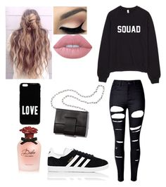 """""""Squad"""" by puck-1995 ❤ liked on Polyvore featuring WithChic, adidas, Lime Crime, MM6 Maison Margiela, Dolce&Gabbana and Givenchy"""