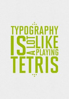 Having worked as a graphic designer for many years, and being a font and typography addict... Yep. :c)