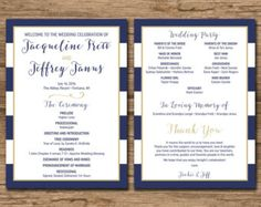 Wedding Program Order of Ceremony Ceremony Program Order by DIVart