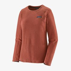 Patagonia Women's R1® Air Fleece Crew Patagonia Long Sleeve, Polyester Material, Longsleeve, Body Size, Virtual Closet, Fleece Fabric, Men Sweater, Pullover, Sweaters