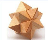 "Wooden Kongming Lock Puzzle - Size: 2.75"""" x 2.75""""(WXK3)"