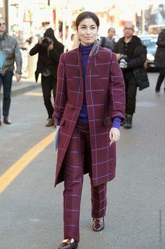 that amazing suit. #CarolineIssa in Milan.