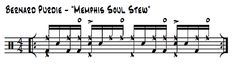 "Bart Elliott transcribes and explains Bernard Purdie's opening drum groove on the King Curtis tune, ""Memphis Soul Stew,"" as heard on the Live at the Fillmore West recording."