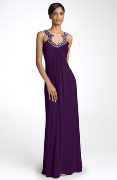 JS Boutique Bead Neck Jersey Gown available at #Nordstrom