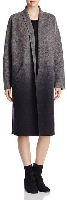 Eileen Fisher Ombré Merino Wool Kimono Coat