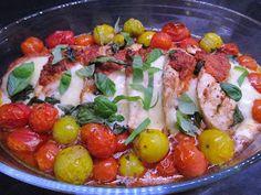 Tinskun keittiössä: Pesto-mozzarellakanaa, nopea ja helppo