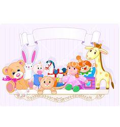 The toy shelf vector on VectorStock®