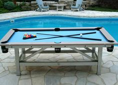 The Outdoor Billiards And Dining Table The Coolest Products - Outdoor pool table rental