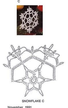 Crochet snowflake chart pattern #crochet Crochet Thread Patterns, Crochet Snowflake Pattern, Crochet Stars, Crochet Snowflakes, Crochet Doilies, Crochet Flowers, Crochet Winter, Holiday Crochet, Crochet Christmas Ornaments