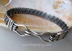 Sterling Wire Weave Mens/Womens Bracelet
