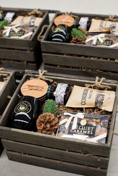 Best Corporate Gifts Ideas Unisex Corporate Retreat Gift Crates by Artisan Gifting Business Marigold & Grey Wedding Welcome Gifts, Gift Crates, Curated Gift Boxes, Client Gifts, Gift Hampers, Corporate Gifts, Corporate Gift Baskets, Corporate Events, Stocking Stuffers