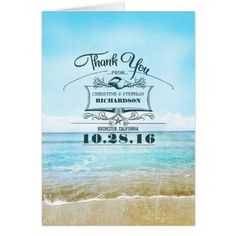 Destination Wedding Thank You Beach wedding thank you cards