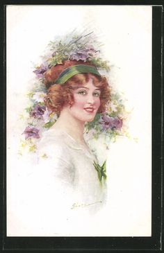 Ladies / Woman without hat | Ladies / Woman / Fashion | old Postcards