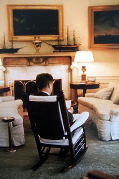 President John F. Kennedy in the Oval Office, 1961.
