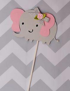 Elefante Centros De Mesa/rosa y gris Centros De Mesa/Elefante tema/es una chica