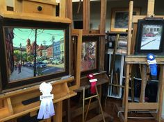 photo of all 1st, 2nd, and 3rd place winners in the 2014 Richmond Plein Air event; views of Libby Terrace, Main Street Station, and Kuba Kuba Restaurant!  Congratulations Jason Saunders, Larry Moore, and Shelby Keefe