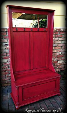 Check out this item in my Etsy shop https://www.etsy.com/listing/272698222/hall-tree-bench-entryway-bench-shabby