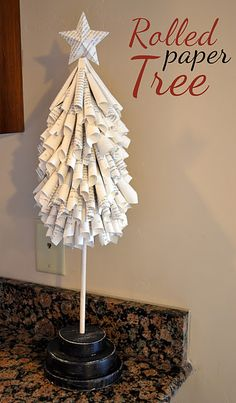 rolled paper tree!