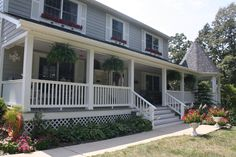 Installing vinyl railing is an easy way to upgrade your front porch for enhanced curb appeal.