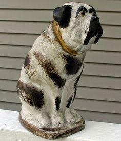 Mastiff, large19th Century Pennsylvania Chalkware
