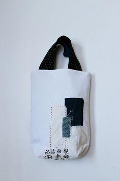 Antique linen patchwork boro tote by SASAKIYOHINTEN on Etsy