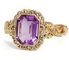 Late-Victorian/early-Edwardian amethyst and diamond bracelet, circa 1890- 1900