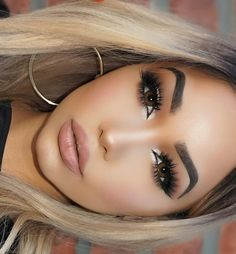 """Melly Sanchez on Instagram: """"Lashes: @hudabeauty 'sasha' Highlight: @benefitcosmetics 'high beam' Lips: @doucceofficial Wig: @freedomcouture Contacts: @luminouslens in 'brown' #MOTD"""