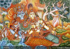 radha krishna, Creative Painting for sale by Nirupama Mishra