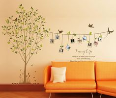 DIY Wall Art Tree Decals Stickers with Photo Frames Bird Leaves 68. Tree of Life | eBay