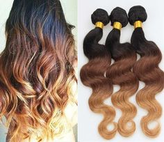 Ombre Body Wave 3 Bundles - Human Virgin Hair @ Hairnparis.com 1-800-496-4322 or Sales@hairnparis.com