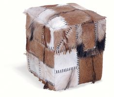 This eclectic patchwork stool box is a unique retro piece. Its unusual design assigns it a vintage edge. Bring a touch of boho-chic to your home with this truly unique piece of furniture. Knitted Pouffe, Leather Footstool, Quirky Kitchen, Designer Bar Stools, Storage Stool, Living Furniture, Luxury Furniture, Modern Furniture, Wow Products
