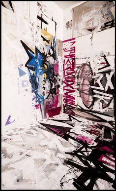 Krzysztof Cichoń, art space, painting, abstraction, canvas, acrylic, molotow, spray www.facebook.com/pg/StudioCkCichon/