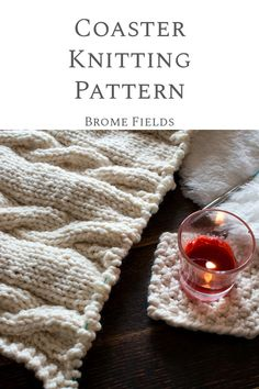 Grab this FREE Coaster Knitting Pattern it's knit using the moss stitch and it's a great left-over yarn project. Yarn Projects, Knitting Projects, Sewing Projects, Knitting Tutorials, Knitting Ideas, Knit Rug, Knit Or Crochet, Dishcloth Knitting Patterns, Free Knitting