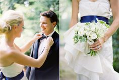 INSPIRATION: White and Deep Indigo Wedding
