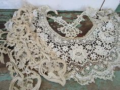 Antique Victorian Lot of 3 Hand Needlework Lace by Holliezhobbiez