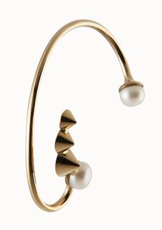 PEARL EARRING   24-karat rose gold-plated brass