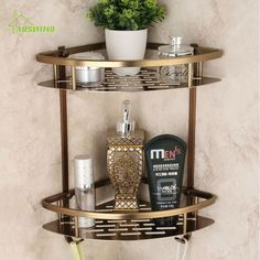 Cheap shelf bathroom, Buy Quality bathroom shelf directly from China shower corner Suppliers: Antique Brushed Bathroom Shelves Double Layer Bronze Corner Shower Shampoo Soap Cosmetic Storage Shelf Bathroom Products Blue Shelves, Bathroom Fixtures, Bathroom Shelves, Shower Corner Shelf, Shower Storage, Shower Shelves, Bathroom Corner Shelf, Bathroom Accessories, Corner Shower Caddy