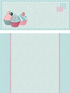 Scrapbook Background, Flower Background Wallpaper, Scrapbook Recipe Book, Cupcakes Wallpaper, Recipe Paper, Cherry Blossom Painting, Cupcake Drawing, Food Graphic Design, Cute Food Drawings