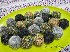 Blessy's Kitchen:  Coconut Chocolate Balls http://www.blessyskitchen.com/2014/05/coconut-chocolate-balls.html