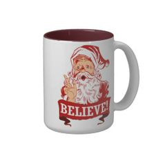 Believe In Santa Claus Mugs #Christmas #holidays #gifts #zazzle