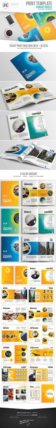 Company Profile Company profile, Brochures and Business - profile company template